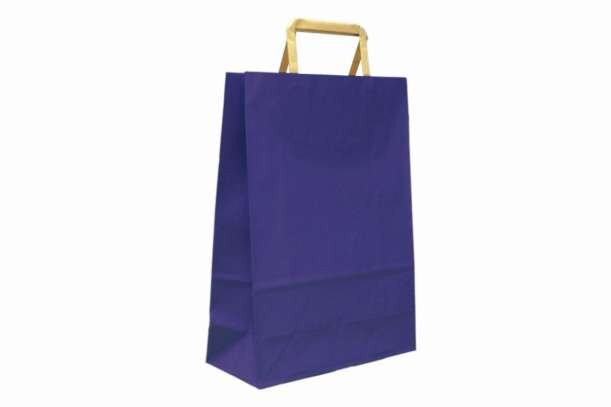 Shopper manico piattina blu