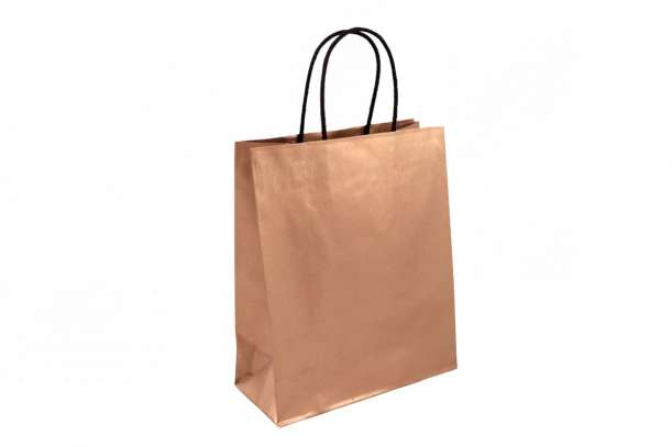 Shopper in carta bronzo