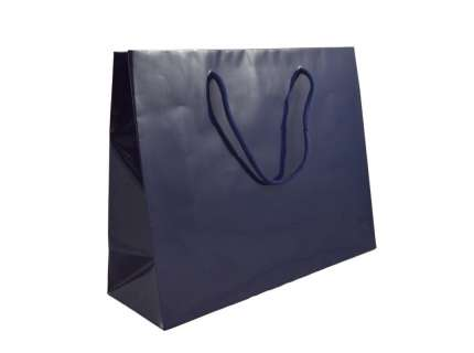 Shopper lux blu gloss personalizzabile