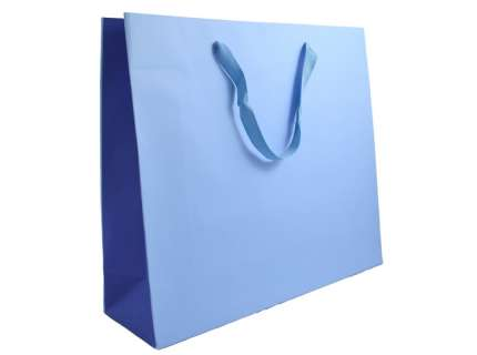 Shopper bicolore blu personalizzabile