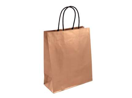 Shopper in carta bronzo personalizzabile
