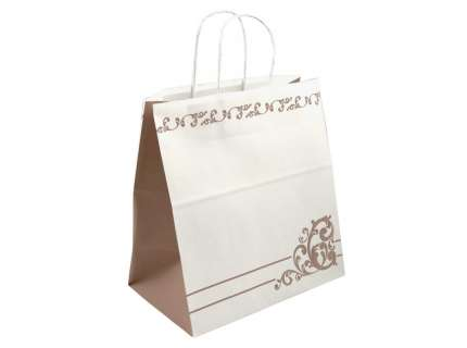 Shopper take away kraft bianco capri personalizzabile